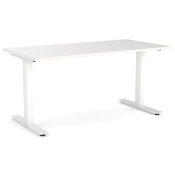 Agile Straight Office Desk White Frame