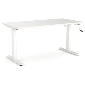 Agile Manual Height Adjustable Standing Desk - White Frame