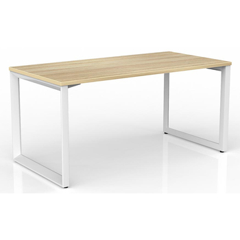 Anvil Modern Office Desk White Frame New Oak Desk Top