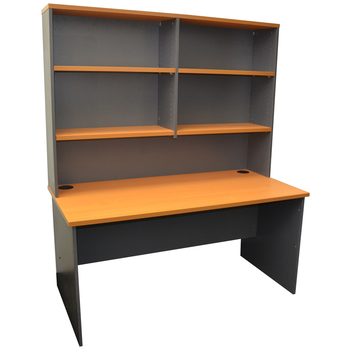 Express Straight Desk with Hutch
