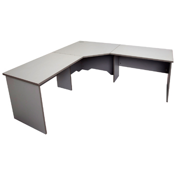 Express Grey Corner Desk Workstation