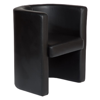 Hunter Black Tub Reception Lounge Chair