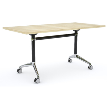 Modulus Mobile Flip Top Table Black New Oak