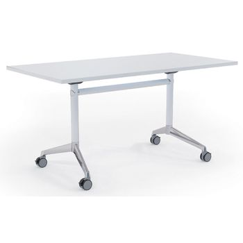 Modulus Flip Top Mobile Table White Frame