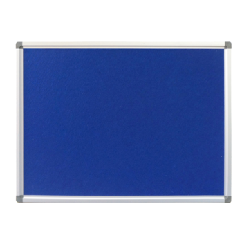 Wall Mountable Office Pinboard Blue Fabric