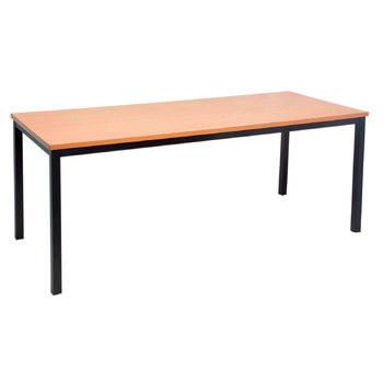 Steel Frame Office Table - Beech Top