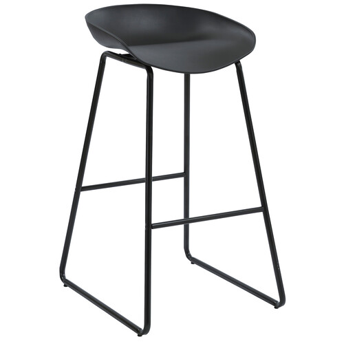 Aries Black Metal Bar Stool