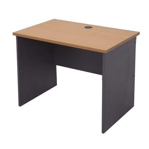 Express Small Home Office Desk - Beech/Ironstone