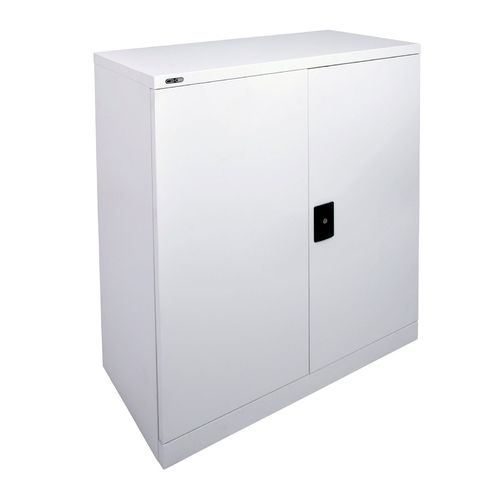 Go Steel White 1000mm High Stationary Cupboard