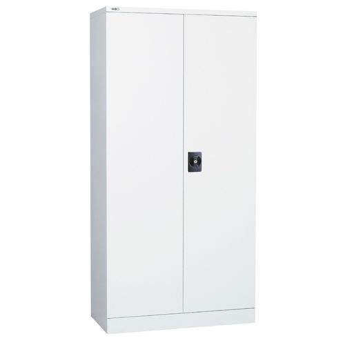 Go Steel White 2000mm High Stationary Cupboard