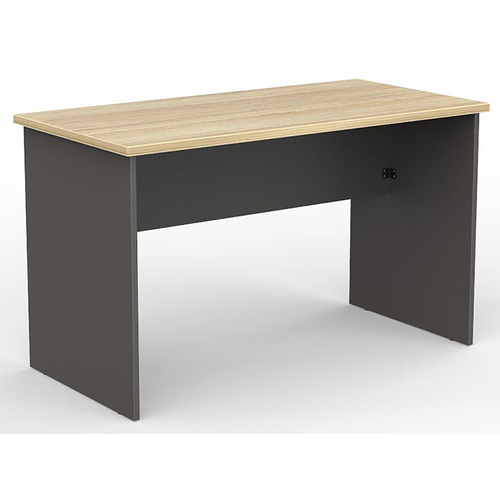 EkoSystem Straight Office Desk New Oak & Charcoal - 1200mm x 600mm