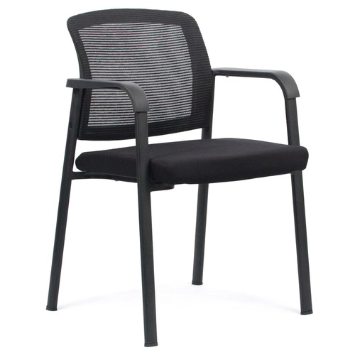 Ozone Black Steel Frame Mesh Back Visitor Chair