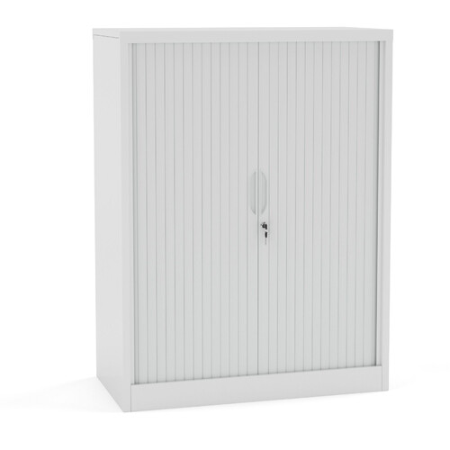 Agile White Metal Tambour Storage Cupboard