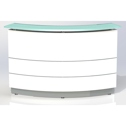 Polaris Curved White Reception Counter