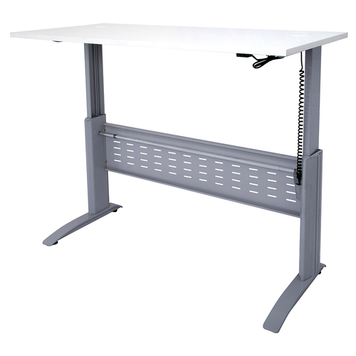 Express White Electric Height Adjustable Sit Stand Desk - 1200 x 700